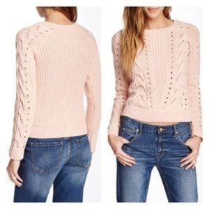 NWOT | Lucky Brand | rose pink knit sweater